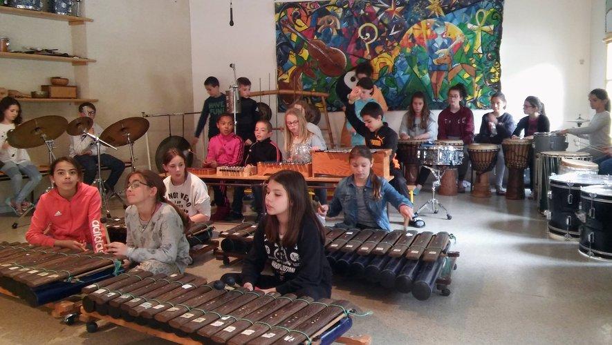 Les activités musicales ont occupé une place importante pendant la classe découverte.