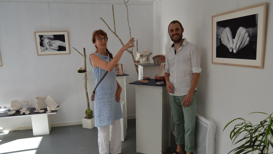Les artistes, Sylvie Gravellard et Christophe Spiesser.