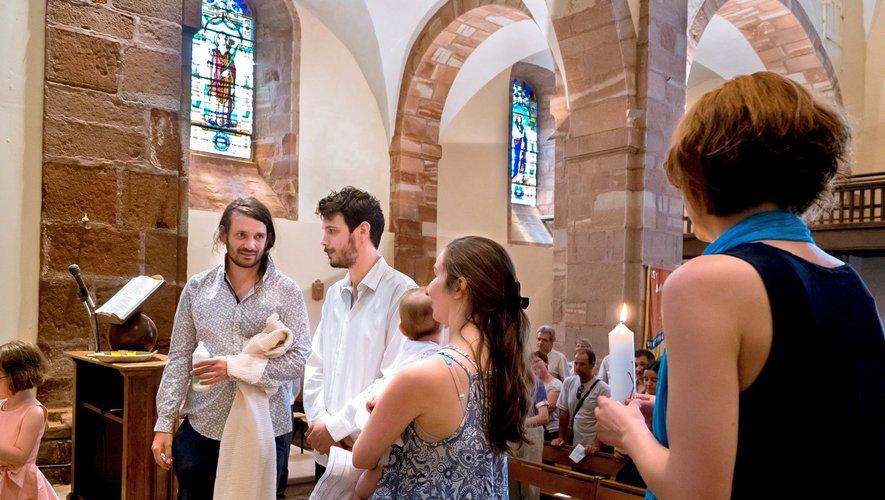 Baptême de Louise le jour de la fête de la paroisse