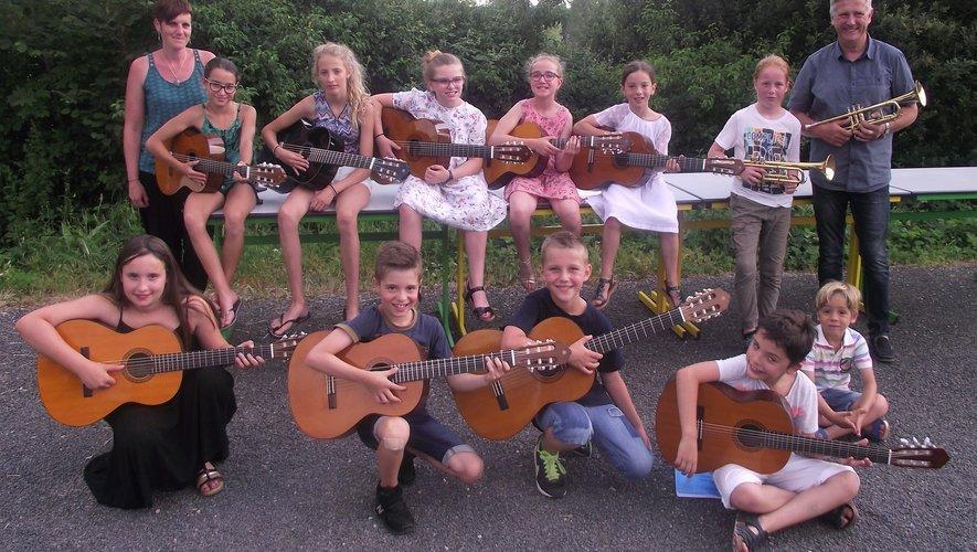 Guitaristes et trompettistes ont présenté le fruit de leur travail.