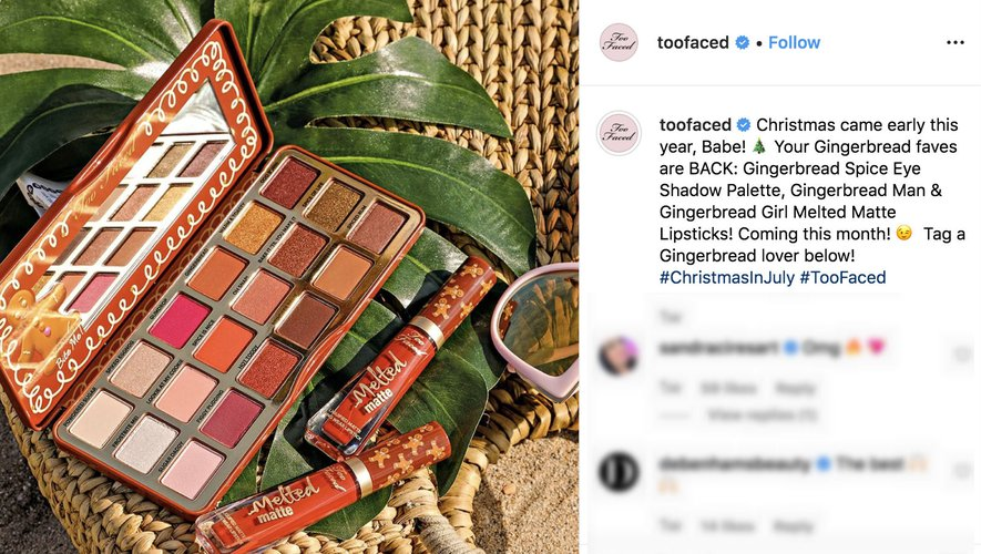 TooFaced Instagram 2019