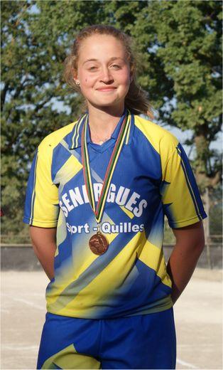 Médaille de bronze pour Lauriane.