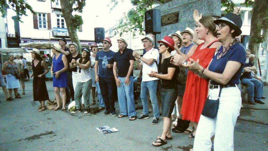 Le groupe Figuenotes a fait une petite démonstration a capella.