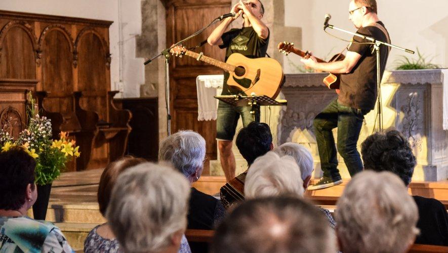 """Le groupe GAJ'a créé l'ambiance pour la """"Nuit des églises"""" devant un public ravi. /Photo DDM."""