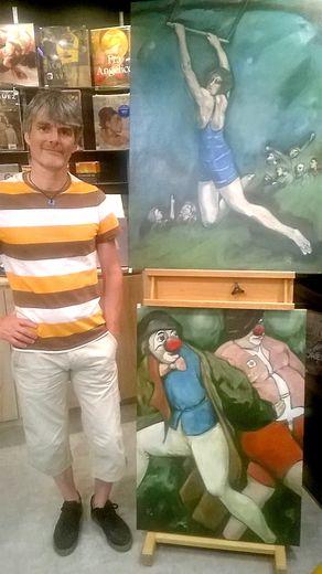 Hugues Renck expose aussi ses œuvres à la libraire des Livres et des Arts.