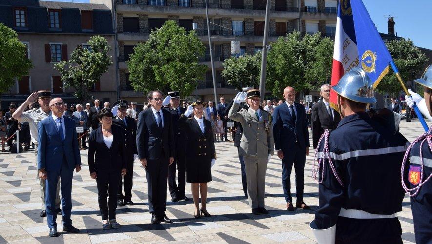 La cérémonie s'est déroulée sur l'esplanade des Rutènes aux pieds de la statue de la liberté
