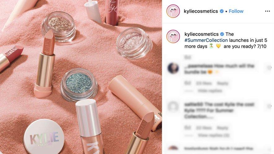 Kylie Cosmetics sur Instagram 2019