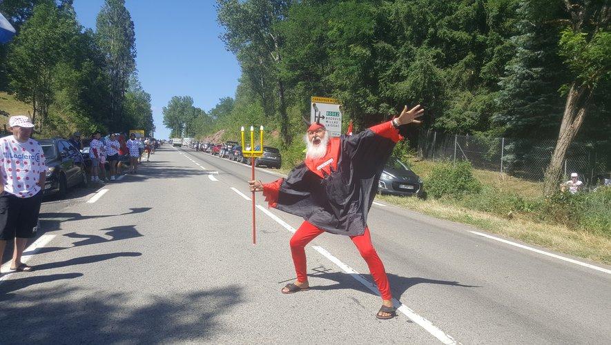 Le fameux diable sur les routes aveyronnaises, entre Espalion et Bozouls !