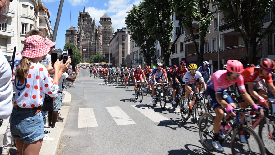 Le Tour de France de passage à Rodez
