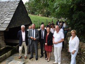 Le Maire, Maurice Battut a eu plaisir à faire découvrir le village rénové.