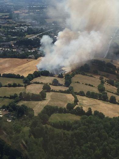 Un feu que les pompiers sont parvenus à maîtriser rapidement ce mardi après-midi.