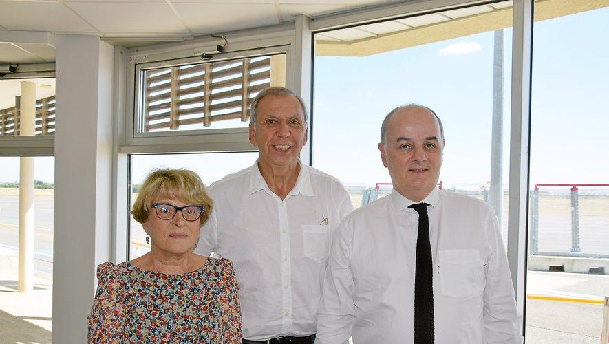 Josiane Costes, sénatrice du Cantal et rapporteure de la mission d'information, Jean-Claude Luche, sénateur aveyronnais membre de la commission, et Vincent Capo-Canellas, sénateur de la Seine-Saint-Denis et président de la mission d'information.