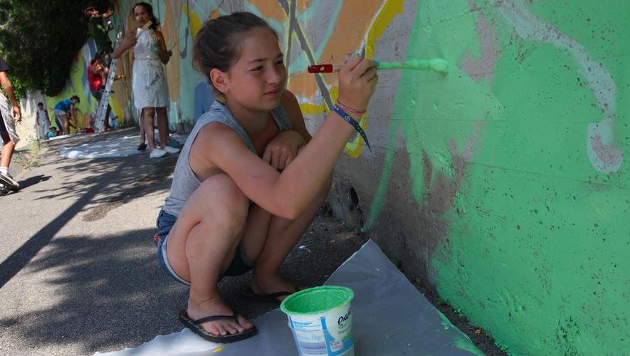 Des ateliers sont proposéspour mettre à contributionles différentes générations.
