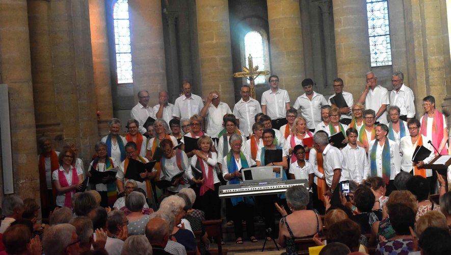 La chorale des voix d'Oltet l'Écho de Roqueprins en concert.