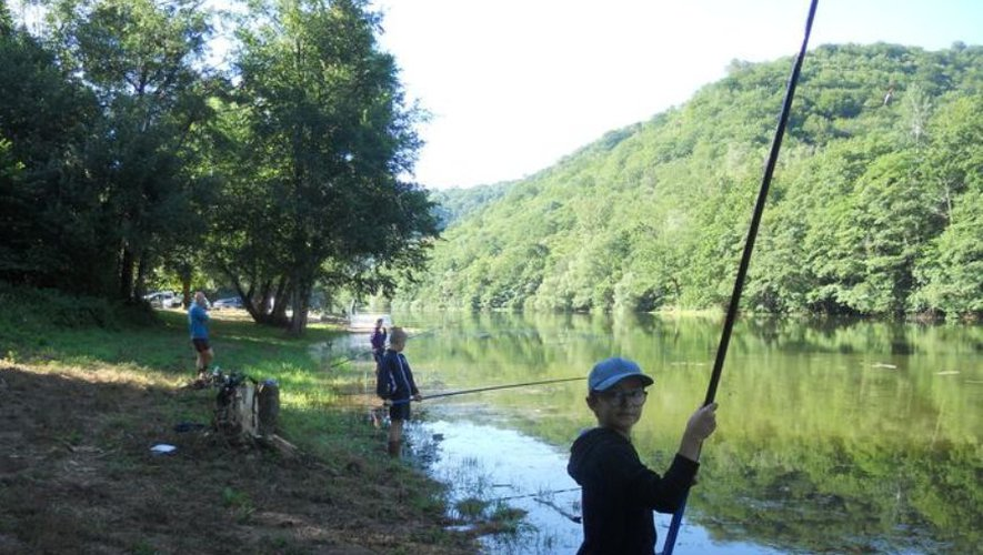 De jeunes pêcheurs concouraient pour le plus grand plaisir des organisateurs.