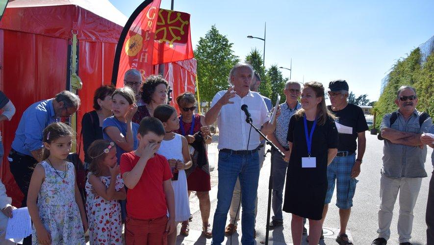L'esplanade a été inaugurée  en présence d'une vingtaine  de descendants de Julienne Séguret.