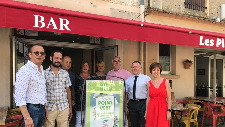Un service Point vert au restaurantLes Platanes.