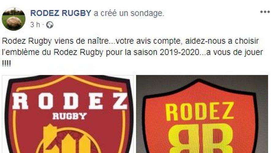 Depuis quelques heures, la page Facebook du RR propose de choisir un logo.
