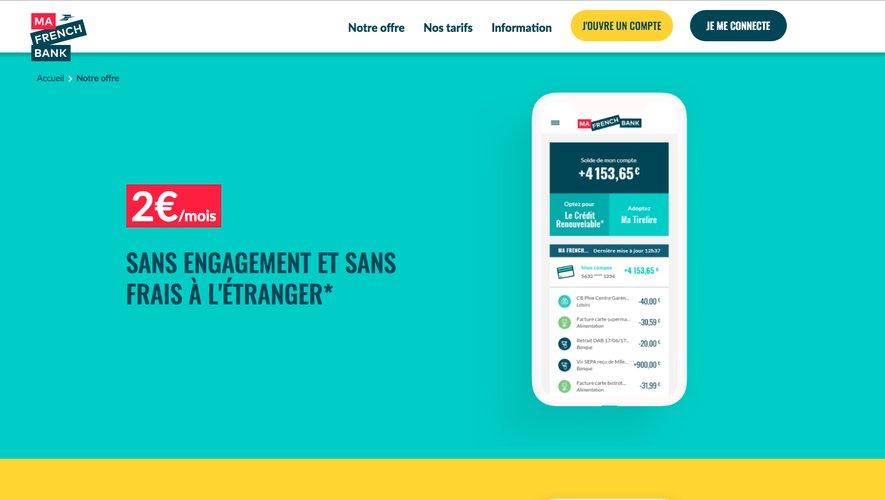 """La Banque Postale a annoncé lundi le lancement de """"Ma French Bank"""", son service 100% mobile """"pour répondre aux nouveaux usages bancaires"""""""
