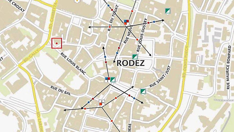 Plusieurs antennes d'opérateurs mobiles sont concentrées dans le centre ancien ruthénois.