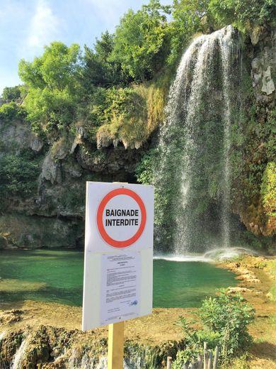 Il est désormais interdit de se baigner dans les vasques des cascades.