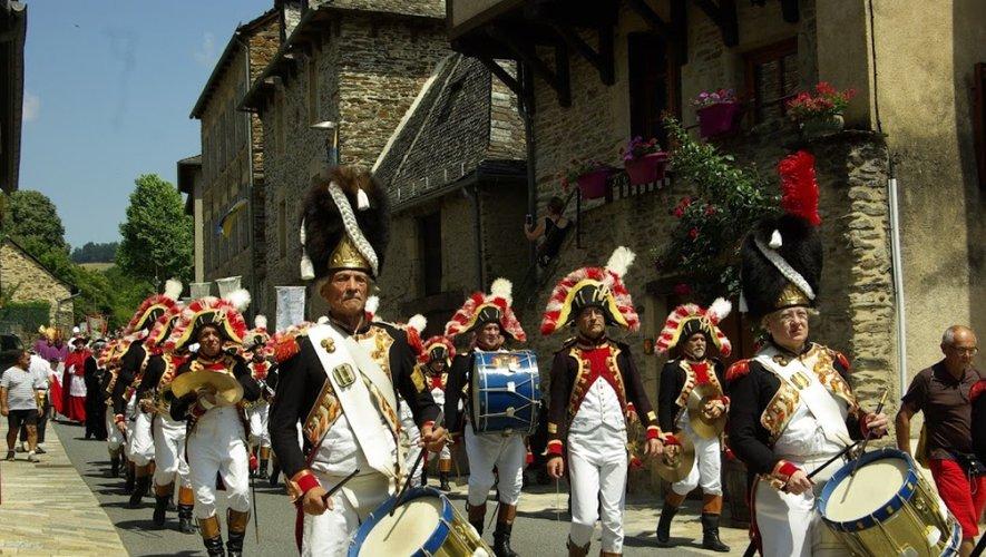 Les musiciens de la Garde impériale de Dijon ont animé la cité estagnole durant ces deux jours de festivités.