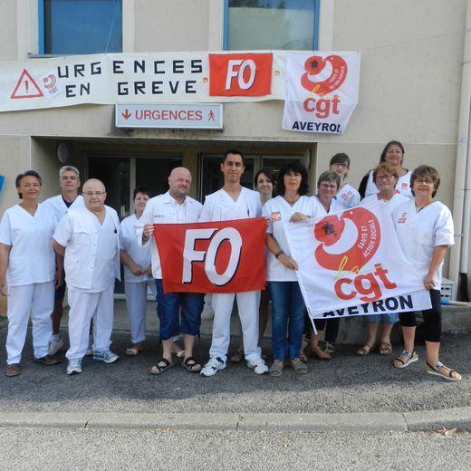 Un rassemblement devant les urgences en grève de l'hôpital jeudi
