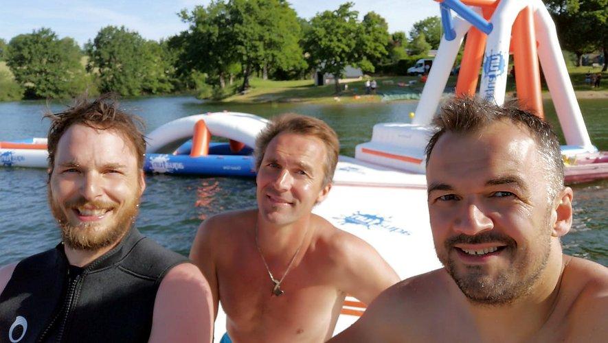 """Matthieu, Gilles et Yoann, les """"papas"""" de l'Aqua Park."""