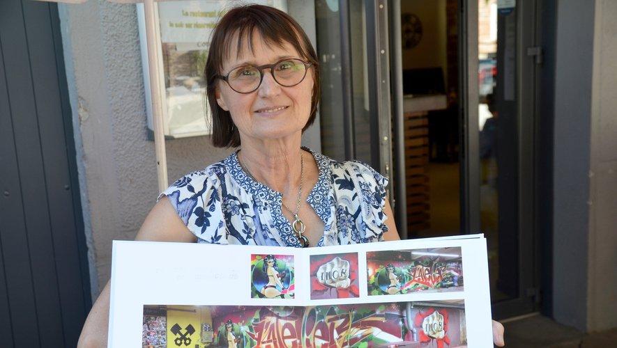 Les œuvres du graffeur sont exposés chez Chantal durant tout l'été.