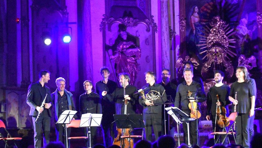 Les musiciens au concert d'ouverture du festival « Musique en vallée d'Olt ».