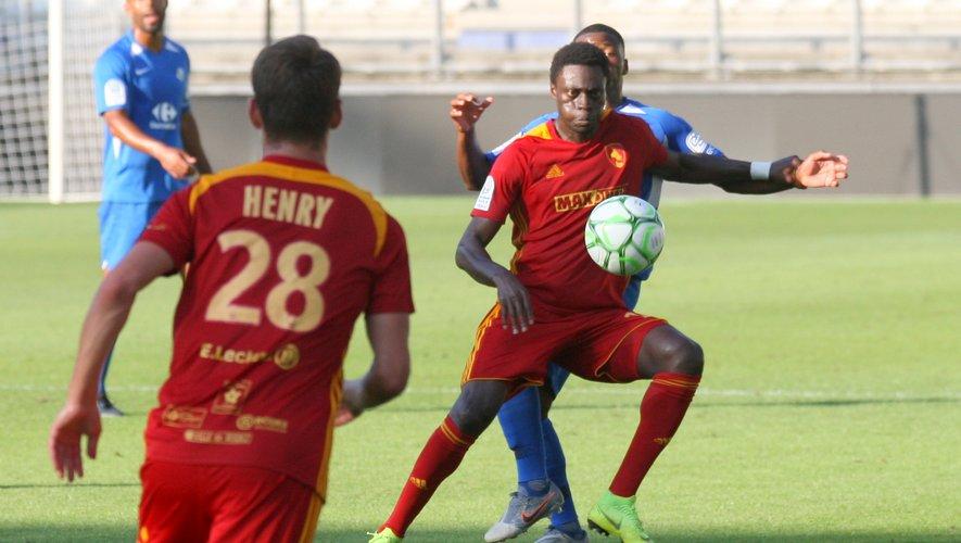 Pape Sané, lors du match amical face à Grenoble (0-0), vendredi dernier.