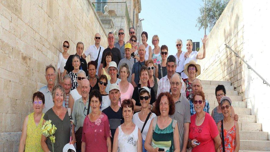 Les adhérents du club l'Ambiance  à la découverte de l'Italie du sud
