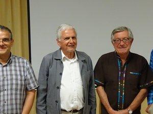 Pierre Lançon, Jacques Frayssange et Orest Ranum ont été accueillis et félicités par le président Serge-Charles Bories pour cette conférence si vivante et étonnante.