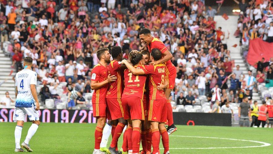 Une victoire 2-0 pour Rodez.