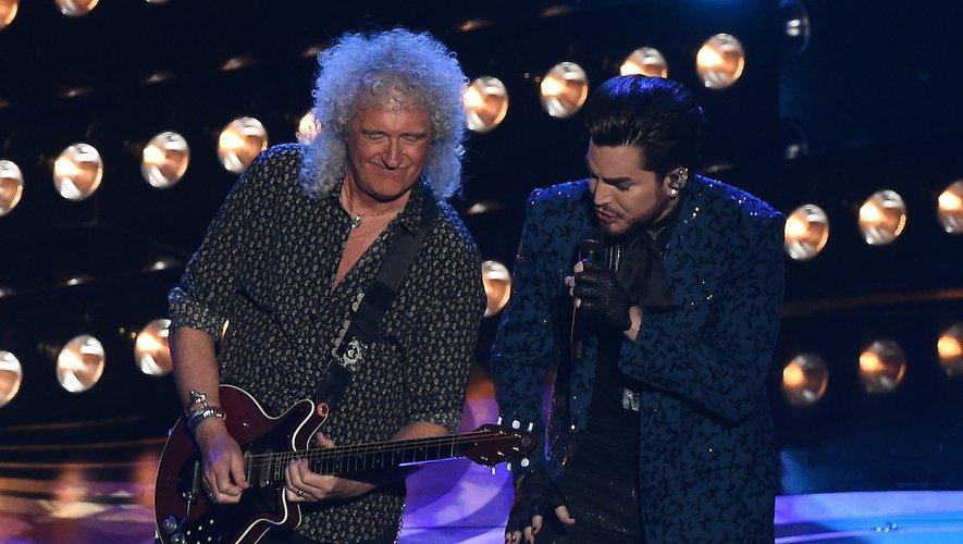 Brian May et Adam Lambert du groupe Queen