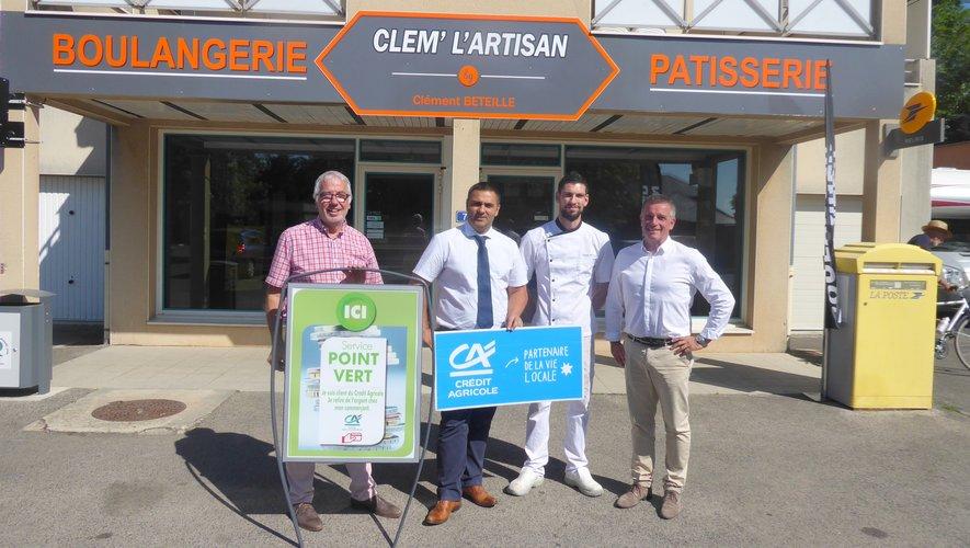 Le point vert de Luc inauguré à la boulangerie Béteille