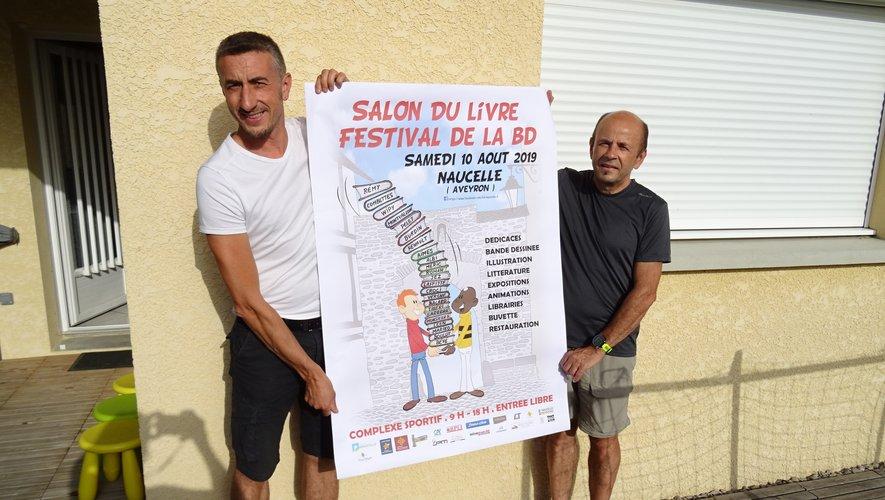 Philippe Laffitte concepteur de l'affiche et Christian Couderc