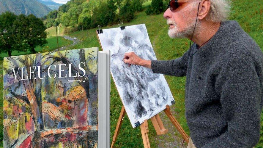 Hans Vleugels, peindre c'est sa vie…
