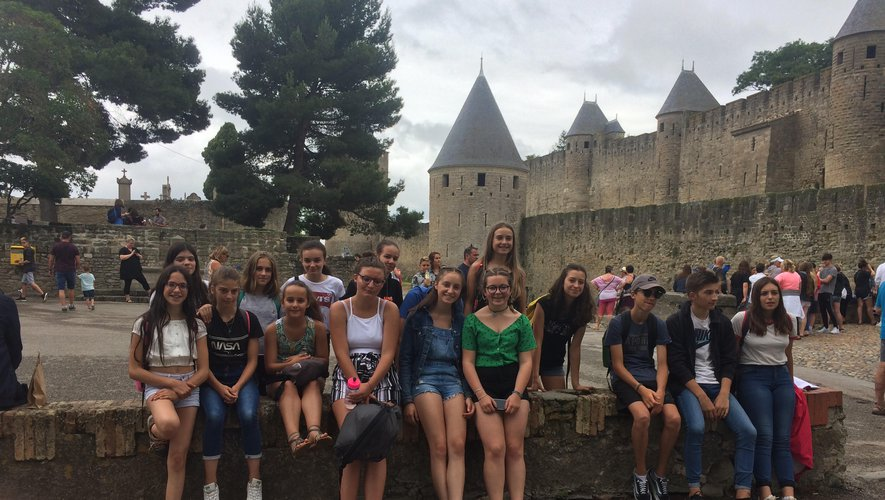 Les jeunes ont découvert la citéde Carcassonne, son histoire...