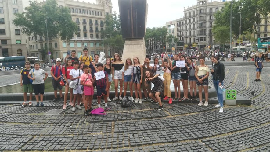 Les 24 jeunes sont partisà la découverte de Barcelone