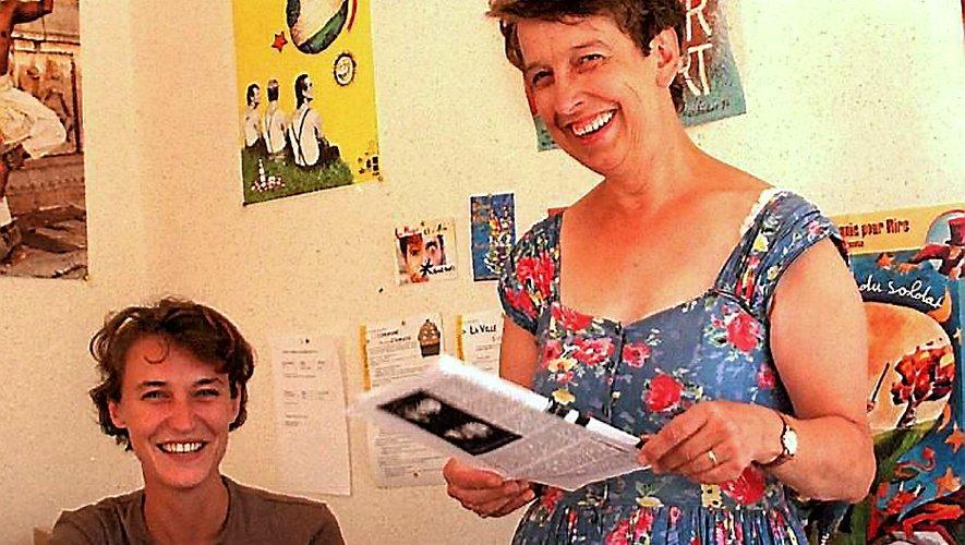 A l'origine du festival, Christiane Lauriac et Lydie Bouzin.