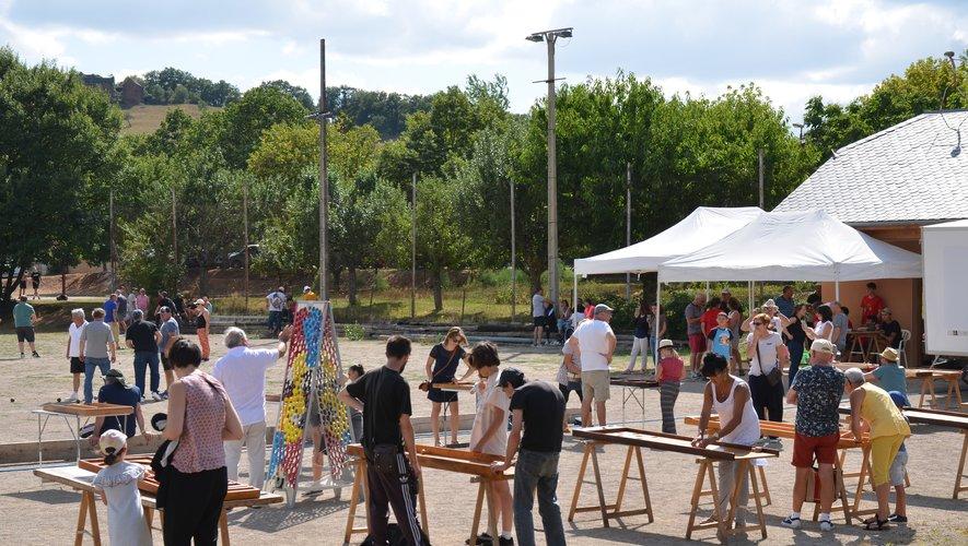 Pétanque et jeux en bois ont attiré le public sur le terrain de quilles.