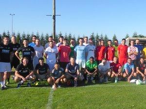 Les joueurs présentsau premier entraînement.