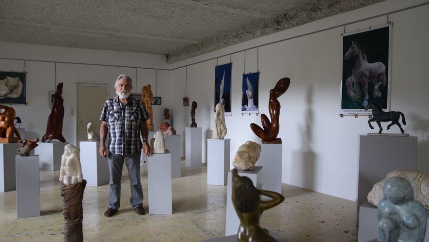 Yves Galzin a façonné près de 600 œuvres en plus de 30 ans.