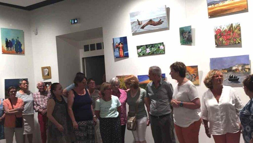 Vernissage de l'exposition des amis des arts