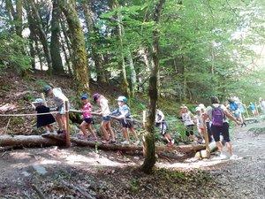 Les enfants ont adoré le parcdu Vallon de Villaret.