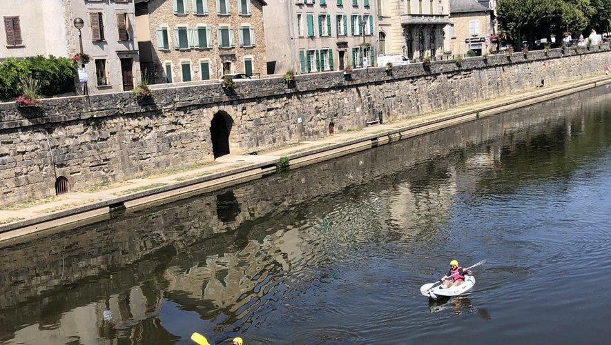 Au fil de l'eau, en suivant la rivière, dans le sillage des canards