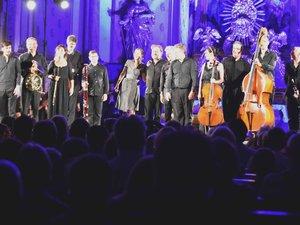 Les musiciens au concert de clôture du festival en vallée d'Olt.