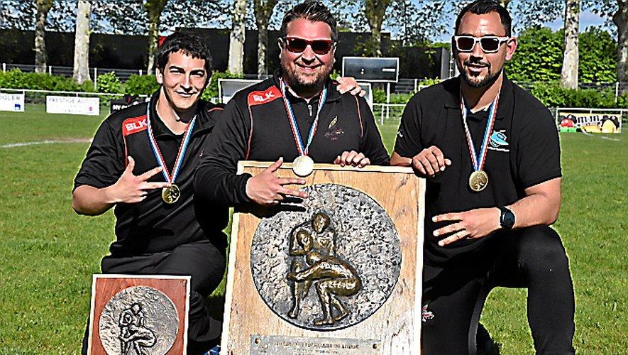 Grégory Philippe, Johan Bernad, et Nicolas Da Silva.