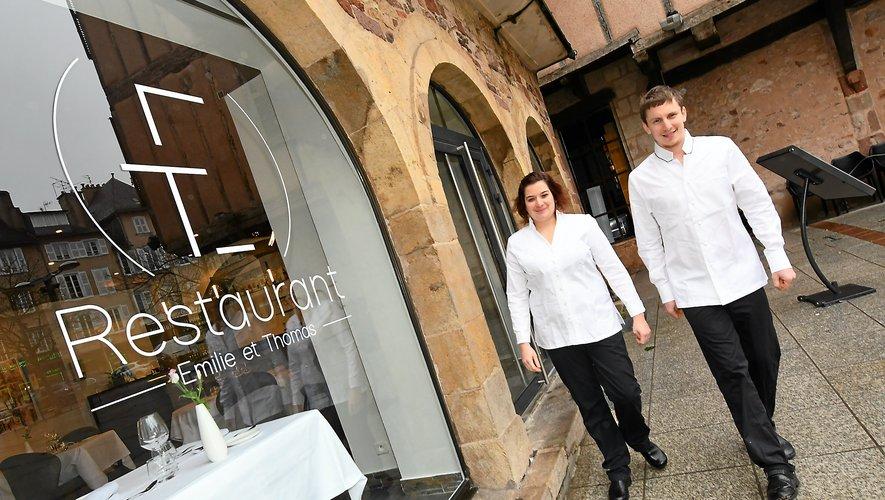 Emilie et Thomas Roussey, du restaurant ET, proposent cinq plats à la dégustation.